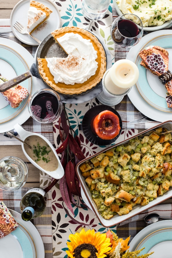 My mom's traditional dressing-- my absolute favorite part of Thanksgiving, is updated into a recipe for Make-Ahead Stuffing that can be made in advance for a delicious jump start on the holiday.