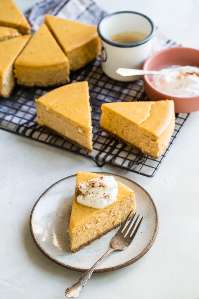 If you're looking for the best Pumpkin Cheesecake, all recipes are not created equal. This beautiful pumpkin cheesecake with a graham cracker crust is rich, smooth, and made from scratch using a few indispensable tips I've learned along the way. For a pumpkin pie cheesecake lover, Thanksgiving can't come too quickly!