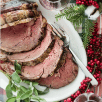I can't think of anything more traditional (or delicious) than roasted Prime Rib with Mustard Cream Sauce for a special Christmas dinner. If you're ready to celebrate the holidays in high style with a classic Prime Rib dinner, then this recipe is the one you want.