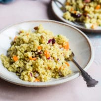 A brightly-colored superfood salad that's gently spiced and chock full of flavor, Curried Quinoa Salad turns an ordinary lunch into an extraordinary one. Or, round out your party menu with something for the health nuts in your family. They're going to love it!