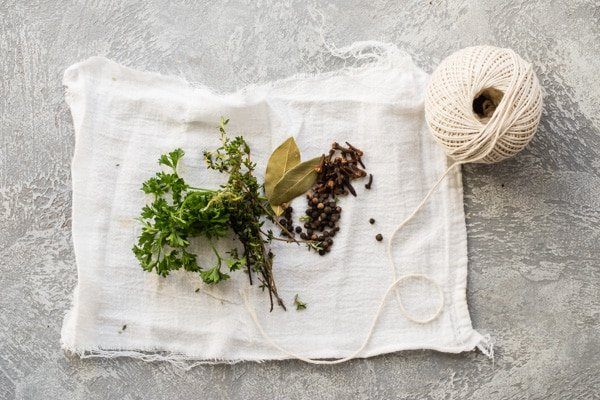 Just like a little bouquet of flowers can brighten your day, a Bouquet Garni can improve the outlook of all your favorite soups, stews, lentils, and beans.