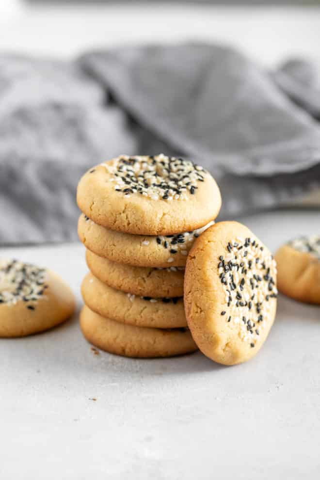 These darling polka-dotted Tahini Cookies have the texture of shortbread and a perfect, not-too-sweet nutty flavor. They're guaranteed to captivate even the pickiest cookie lover, so grab a jar of tahini and get baking!