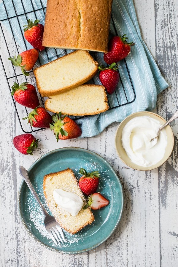 A moist, Easy Pound Cake like this one is worth its weight in gold. It's the perfect summer dessert, just begging to be topped with fresh berries and a heap of cool whipped cream.