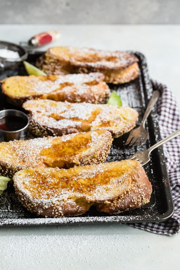 Just when you thought French toast couldn't get any better, here it is: Challah French Toastmakes one of the most indulgent and delicious breakfasts ever. Serve these crispy-on-the-outside, custard-on-the-inside slices with your favorite fresh fruit and lots of warm syrup.