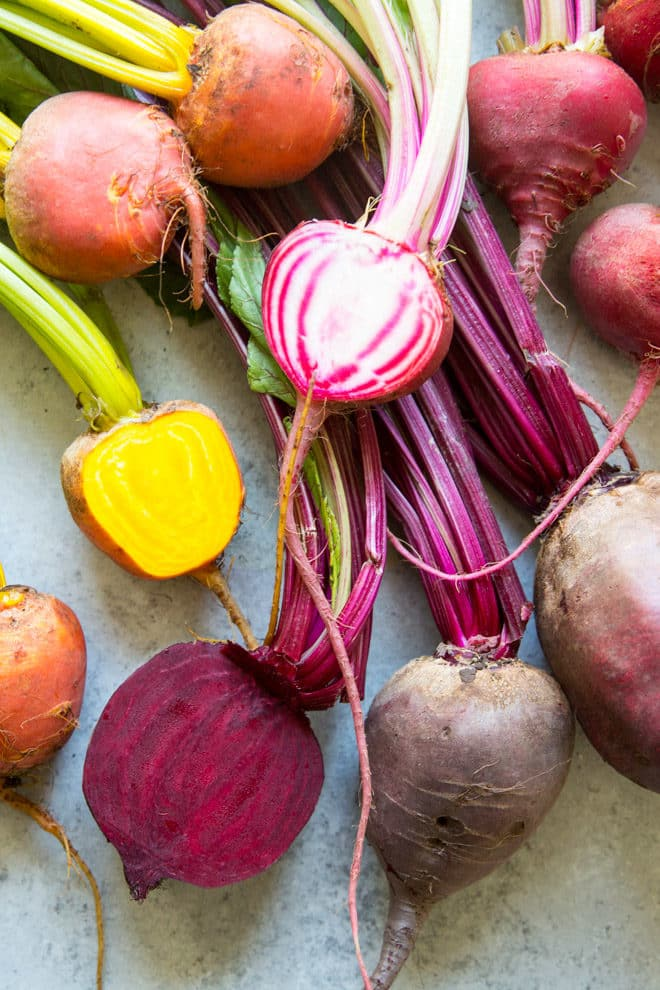 Roasting beets brings out their naturally sweet flavor better than any other cooking technique. Tt's easy to do and beets are plentiful year round, so you can toss them into your salads-- or just enjoy them on their own with a simple vinaigrette.