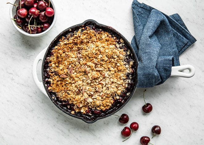 Summer nights are even sweeter with a warm Cherry Crisp for dessert. Throw it all together at the last minute and serve it up with some vanilla ice cream.