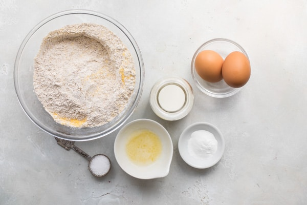 Based on a family recipe that's been handed down for generations, Homemade Healthy Pancake Mix makes it possible to have pancakes anytime you crave them, with zero guilt. Plus the recipe is endlessly adaptable, and works for waffles, too!
