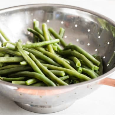 Here's how to blanch green beans so that they're deliciously tender, yet tantalizingly crisp, every single time. Also, it's an easy cooking method; all you have to do is boil some water.