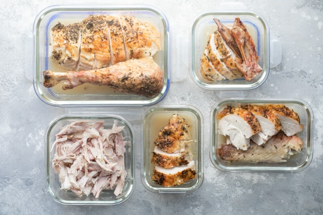 Make Ahead Roasted Turkey for Thanksgiving or any feast is perfect when you're pressed for time. With this technique, cooking turkey the day before, the week before, or even the month before— tastes delicious and freshly carved.