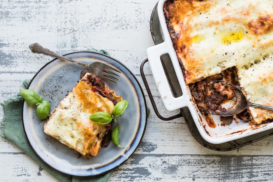 When a dinner like Vegetable Lasagna hits the table, no one will miss the lasagna with meat—not even diehard meat lovers. Filled with spinach, mushrooms, ricotta, and an easy homemade tomato sauce, this labor of love recipe is worth every minute.