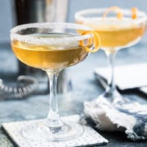 Sidecars in stemmed glasses.