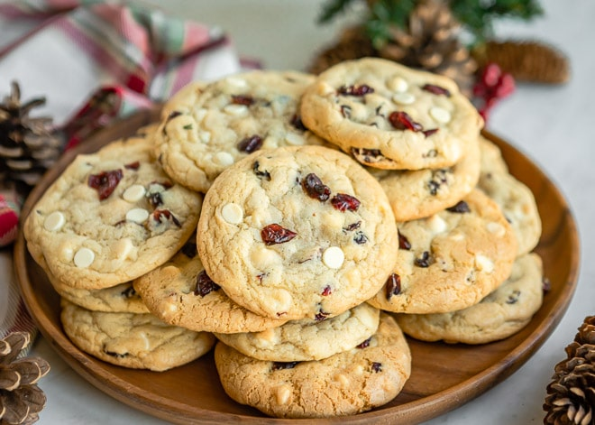 These White Chocolate Cranberry Cookies are a delightful combination of sweet and tart and they might just become your favorite Christmas cookie ever.