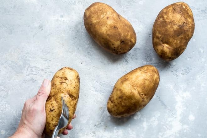Four whole potatoes.