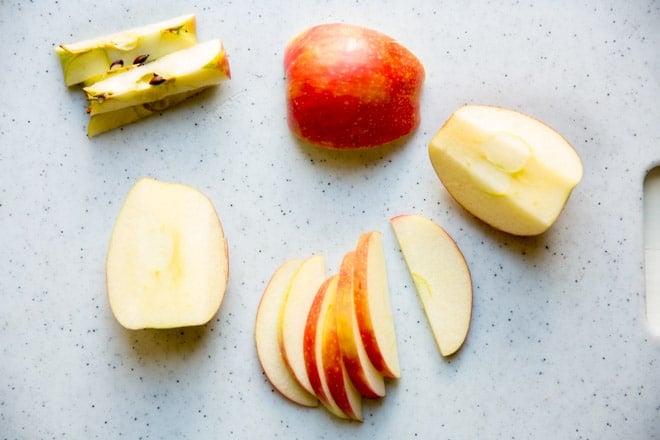 Apple slices.