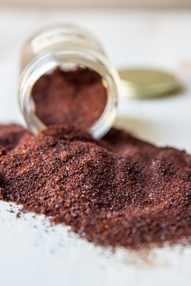 Homemade ancho chile powder.