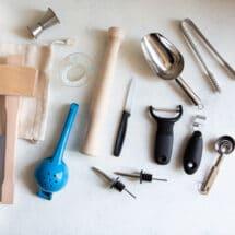 Assorted bar tools.