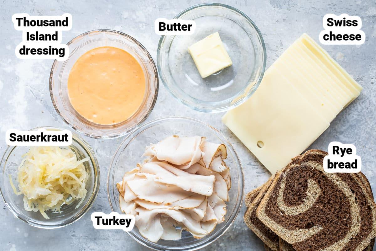 Rachel sandwich ingredients.