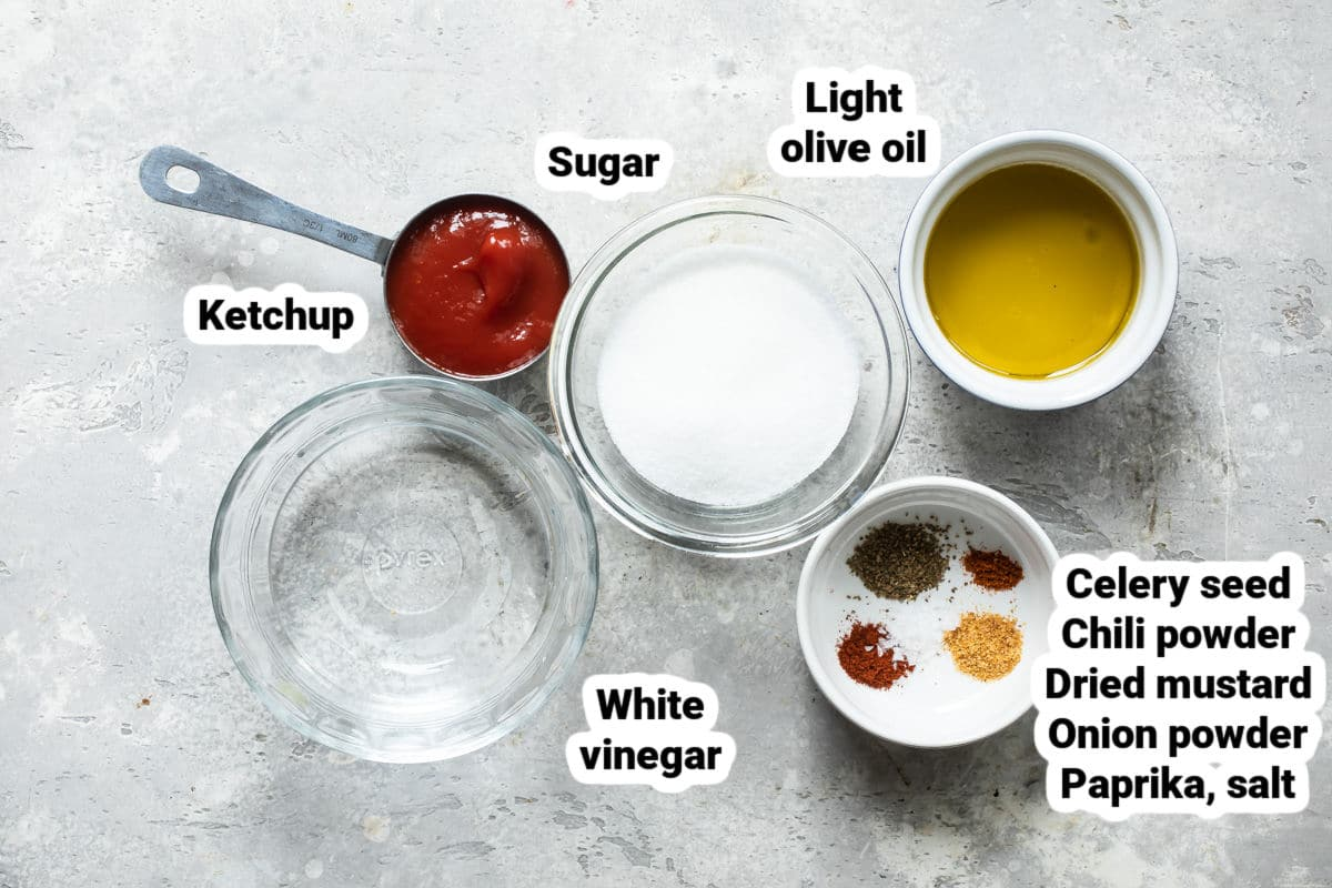 French dressing ingredients.