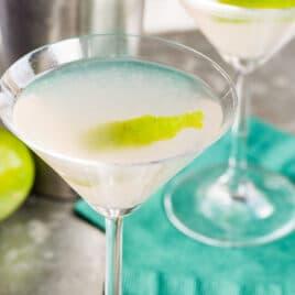 A Hemingway Daiquiri in a cocktail glass.