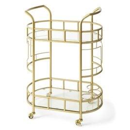 2-Tiered Gold Bar Cart