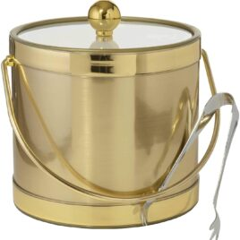 3-Quart Insulated Ice Bucket With Ice Tongs