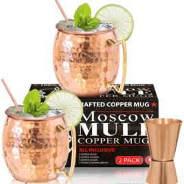 Moscow Mule Copper Mugs, set of 2
