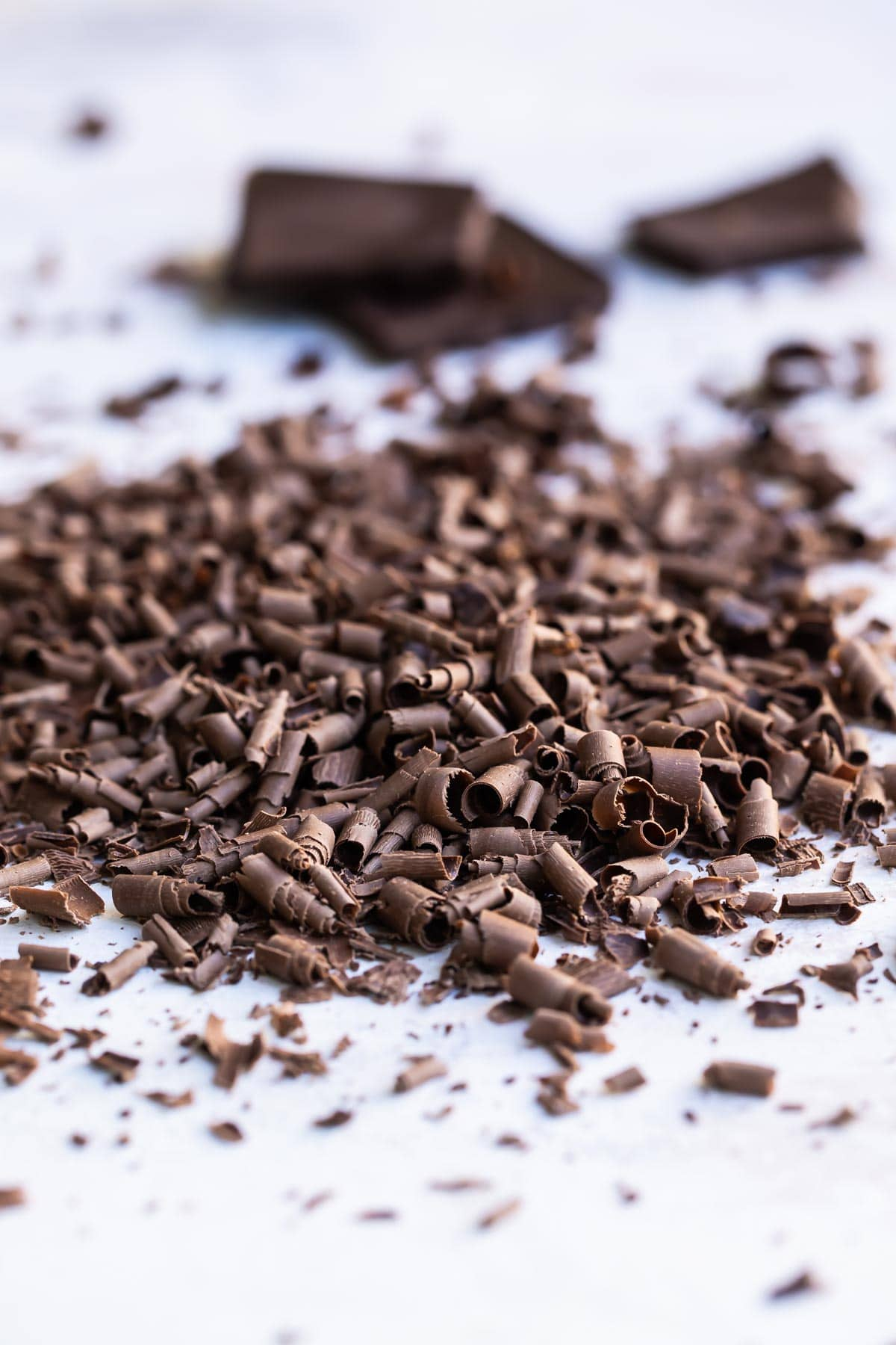 A pile of chocolate curls.