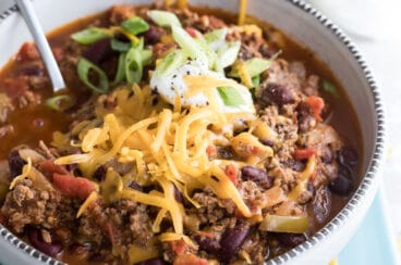 A bowl of venison chili.