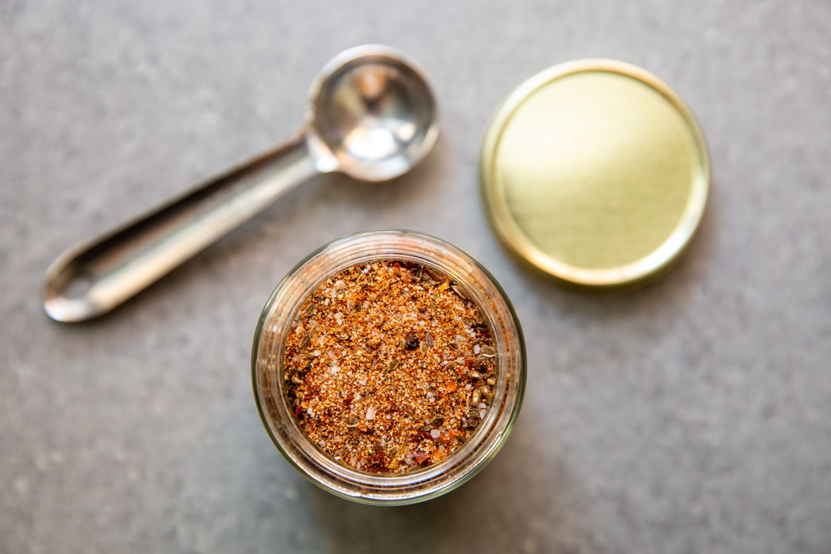 Montreal Steak Seasoning spices in a jar.