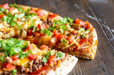 A taco pizza.