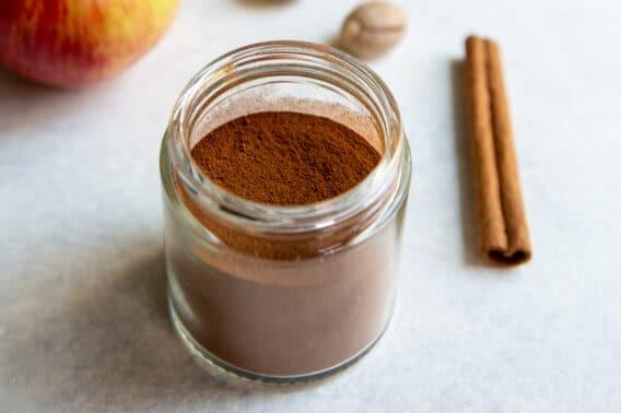 A jar of apple pie spice.