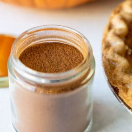 A jar of pumpkin pie spice.